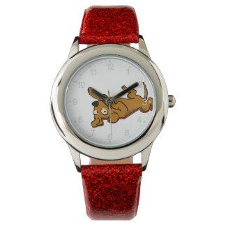 Relógio De Pulso O cão feliz dos desenhos animados está