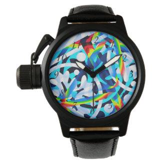 Relógio De Pulso O conjunto de abstrato colorido dá forma ao