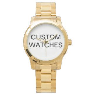 Relógio De Pulso O costume personalizou o vazio de aço inoxidável