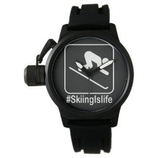 Relógio De Pulso O esqui é vida!
