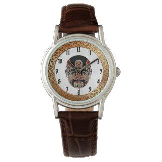 Relógio De Pulso O Facial da ópera de Peking mascara design3