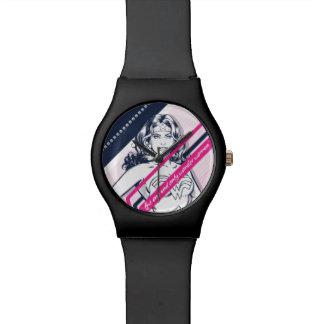 Relógio De Pulso O gráfico retro de Woman um e da única maravilha
