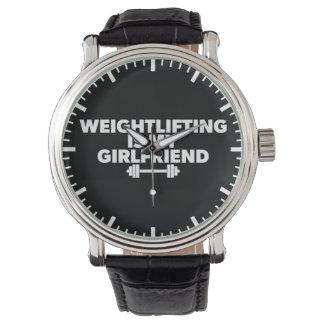 Relógio De Pulso O halterofilismo é meu namorada - exercício
