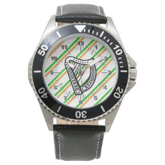 Relógio De Pulso O irlandês listra a bandeira