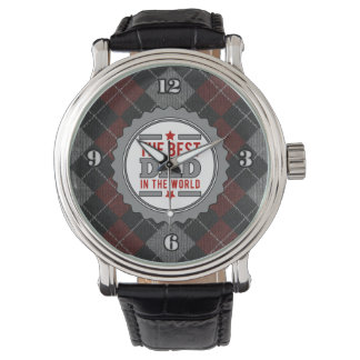 Relógio De Pulso O melhor pai no mundo Argyle modelado