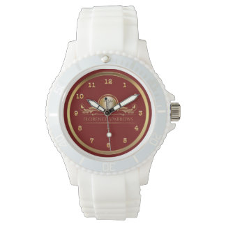 Relógio De Pulso O ouro vermelho chique RN do símbolo   do Caduceus