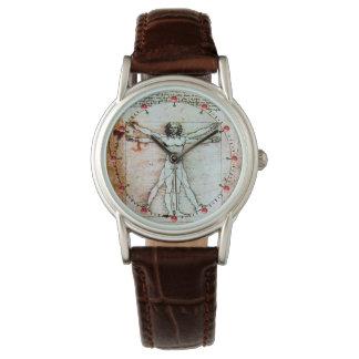 Relógio De Pulso O pergaminho da antiguidade do HOMEM de VITRUVIAN