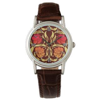 Relógio De Pulso O Pimpernel de William Morris, oxida laranja e