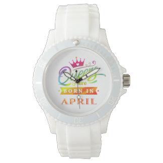 Relógio De Pulso O Queens é em abril presente de aniversário