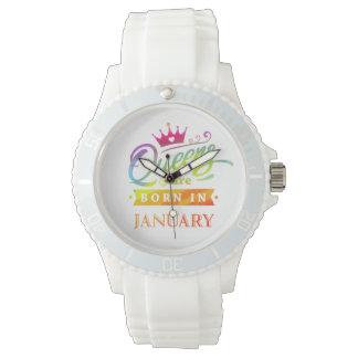 Relógio De Pulso O Queens é em janeiro presente de aniversário