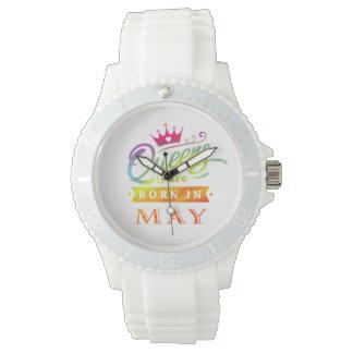 Relógio De Pulso O Queens é em maio presente de aniversário nascido