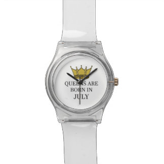 Relógio De Pulso O Queens é nascido em julho