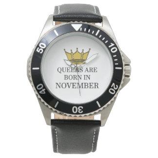 Relógio De Pulso O Queens é nascido em novembro