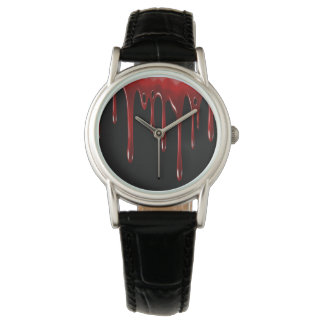 Relógio De Pulso O sangue de Falln goteja o preto
