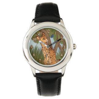 Relógio De Pulso O Serval e a borboleta