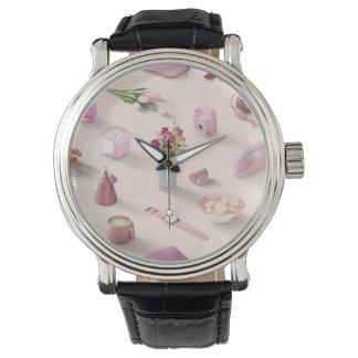 Relógio De Pulso O sonho cor-de-rosa da menina