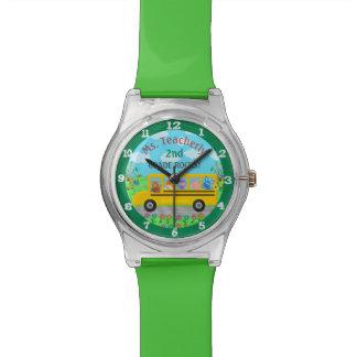 Relógio De Pulso Obrigado do professor você animais bonitos feitos