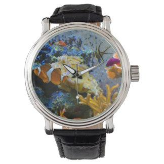 Relógio De Pulso oceano do coral dos peixes do recife
