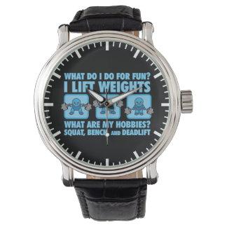 Relógio De Pulso Ocupa, imprensa de banco, Deadlift - passatempos -