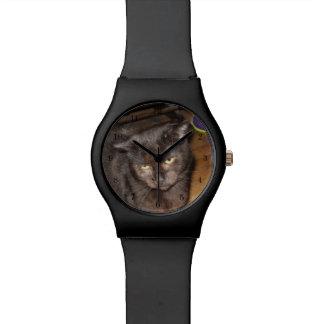 Relogio De Pulso Oh, aqueles olhos do quarto, gato preto
