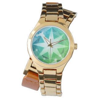 Relógio De Pulso Olhar do cristal de rocha do compasso de pedra