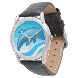 Relógio De Pulso Ondas de salto do golfinho