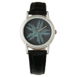 Relógio De Pulso Ophiodea na turquesa e no preto