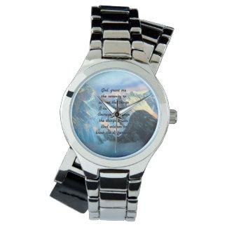 Relógio De Pulso Oração da serenidade com vista panorâmica Monte