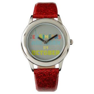 Relógio De Pulso Os engenheiros são em outubro Z3zoj nascidos