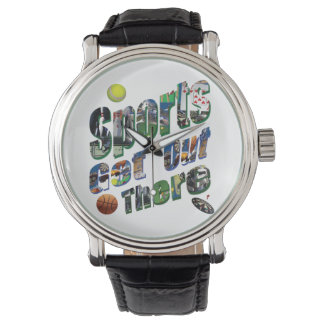 Relógio De Pulso Os esportes saem lá do logotipo da imagem, couro
