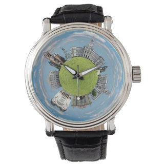 Relógio De Pulso Os marcos pequenos minúsculos do planeta de
