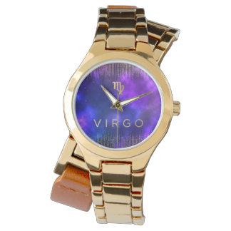 Relógio De Pulso Ouro feito sob encomenda do zodíaco do Virgo