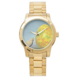 Relógio De Pulso Ovo da páscoa e pintinhos - 3D rendem