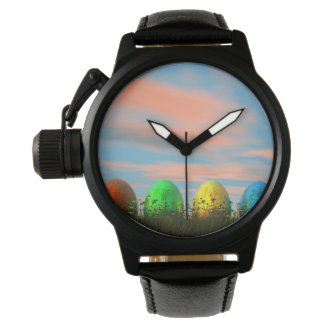 Relógio De Pulso Ovos coloridos para a páscoa - 3D rendem
