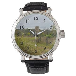 Relógio De Pulso Paisagem do silo do país de origem