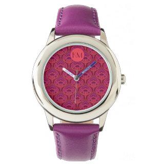 Relógio De Pulso Paisley emplumado - Pinkoinko