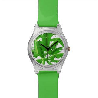 Relógio De Pulso Palmeiras tropicais verdes