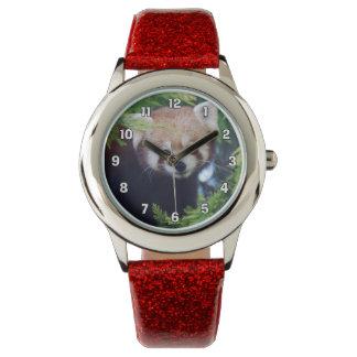 Relógio De Pulso Panda vermelha