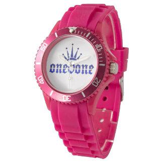 Relógio De Pulso Pantera cor-de-rosa real 101 da coroa