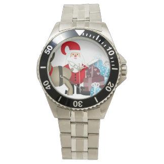 Relógio De Pulso Papai noel & sua rena com presentes