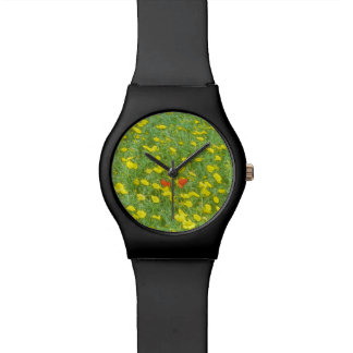 Relógio De Pulso Papoilas da aguarela