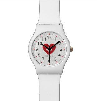 Relógio De Pulso Para doutores & enfermeiras. Cruz médica do