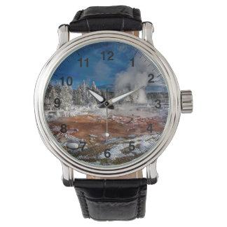 Relógio De Pulso Parque nacional Wyoming de Yellowstone no inverno