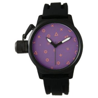 Relógio De Pulso Partículas felizes roxas