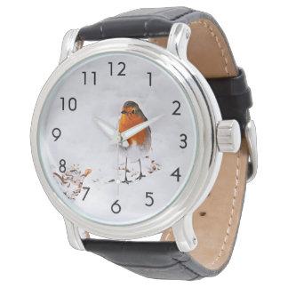 Relógio De Pulso Pássaro bonito feito sob encomenda do pisco de