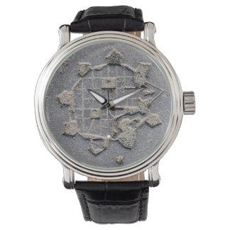Relógio De Pulso Pedra de pavimentação do mapa da citadela de