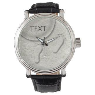 Relógio De Pulso Pegada/pegadas feitas sob encomenda no design do