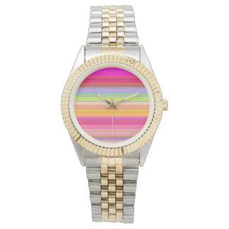 Relógio De Pulso Personalize - o fundo multicolorido do inclinação