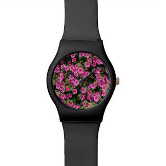 Relógio De Pulso Petúnias e gramado