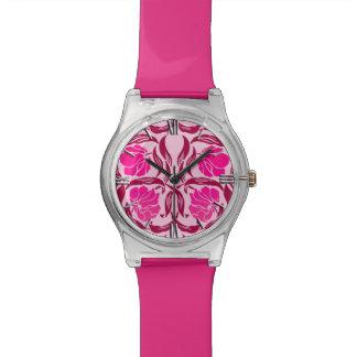 Relógio De Pulso Pimpernel de William Morris, fúcsia & luz - rosa